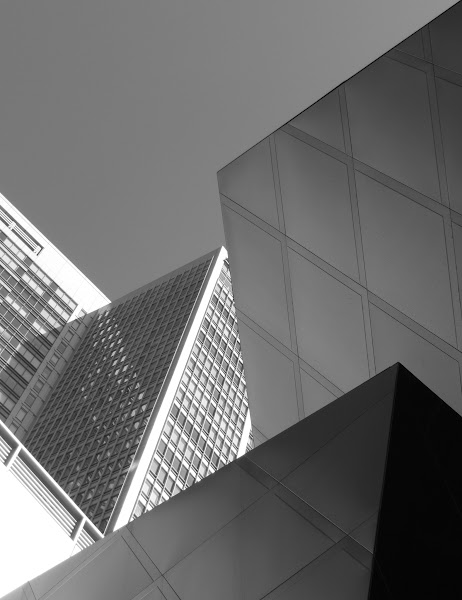Photo: Every Which Way - Yerba Buena Lane - 2012  Another Yerba Buena Lane shot from yesterday's photo walk with +Doug Kaye - this time in monochrome - using Lightroom 4. Canon PowerShot S100.