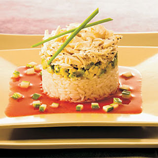 Crab & Lemongrass Rice Tower