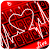 Live 3D Red Neon Heart Keyboard Theme file APK for Gaming PC/PS3/PS4 Smart TV