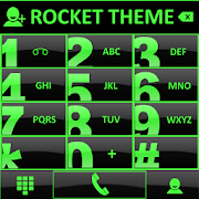 Theme Glossy Green RocketDial