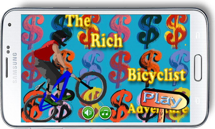 android The Rich Bicyclist Adventure Screenshot 0