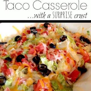 Taco Casserole with a Surprise Crust!