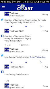 The Coast 95.3/95.9 KOZT- screenshot thumbnail