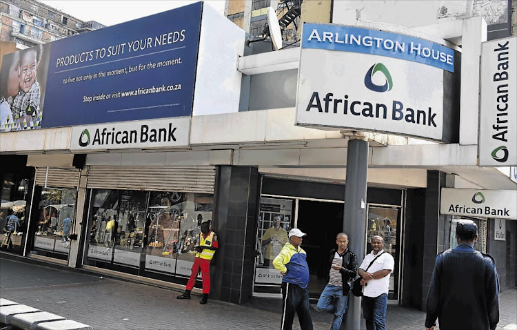 African Bank's central Johannesburg branch. Picture: FREDDY MAVUNDA