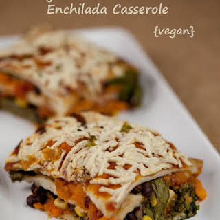 Smokey Kale and Sweet Potato Enchilada Casserole.