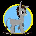 Baby Donkey Skateboarding icon