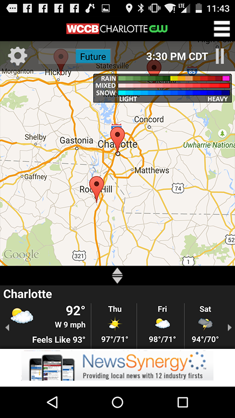 WCCB Charlotte- screenshot