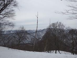 上谷山(右)の南西尾根