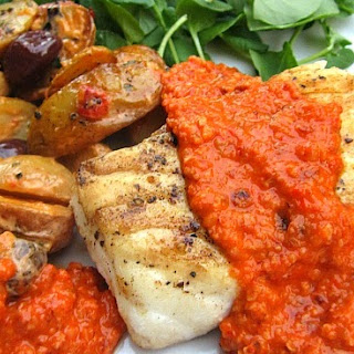 What's for Dinner? Fish w/ Romesco & Spanish Potato Salad