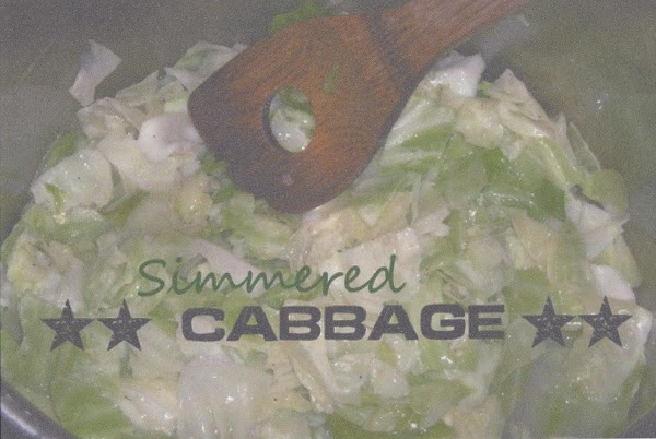 Simmered Cabbage. Recipe