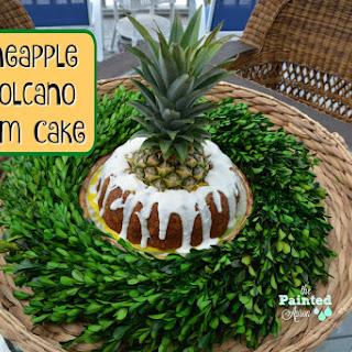 Pineapple Volcano Rum Cake.