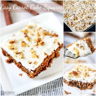 Easy Carrot Cake Squares