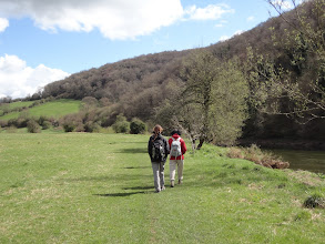 Photo: Heloise and Chantal along the Wye