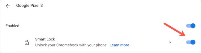 Enable Smart Lock on Chromebook
