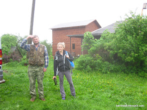 Photo: Goodbye to the Moscow field station! (Notice Alex smashing one last mosquito)