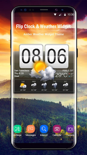 Flip Clock & Weather Widget screenshots 1