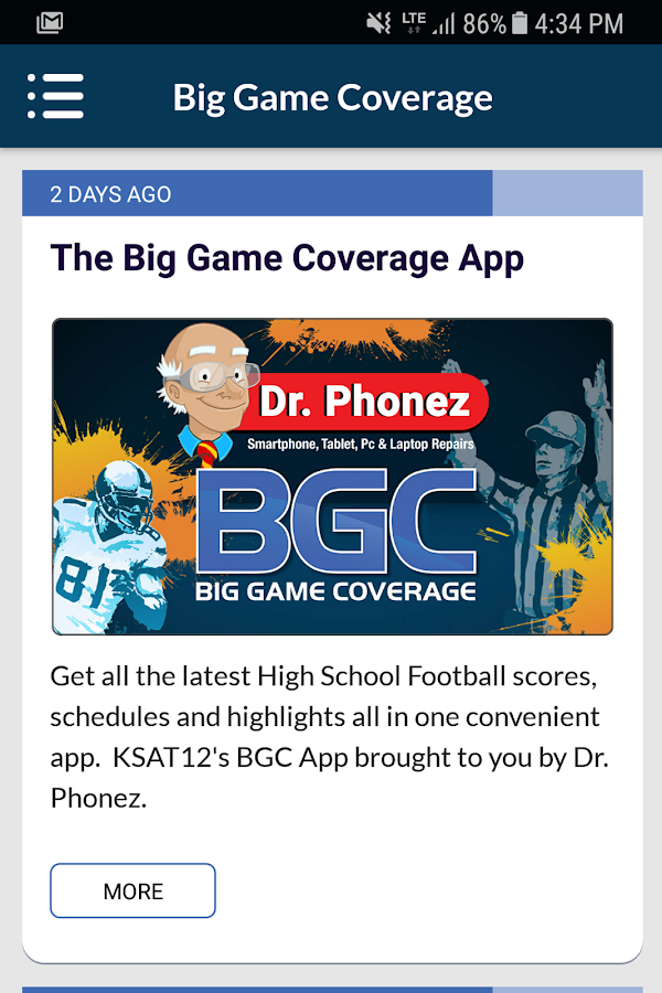 KSAT 12 Big Game Coverage- screenshot