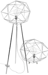 Globen Lighting Diamond Golvlampa Krom - lavanille.com