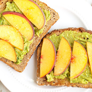 Avocado Toast with Peaches and Sea Salt