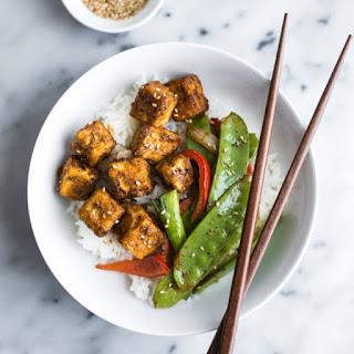 Jamaican Jerk Style Tofu Stir Fry