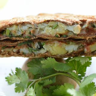 Chaat Style Mashed Potato Toasted Sandwich