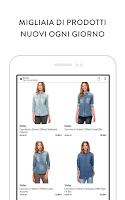 Screenshot of Privalia, outlet di moda