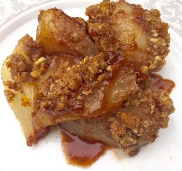 Maple Orange Pecan  Pear Crisp Recipe