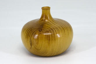 "Photo: Clif Poodry 2 1/4"" x 2 3/4"" hollow vase [Osage orange] (Hollowed through the bottom -- see next month's demo.)"