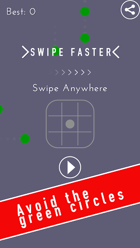 SWIPE FASTER - DOTS ARE MOVING