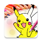 coloring page for pokemon icon