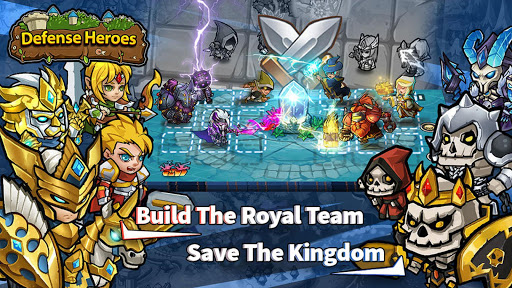 Télécharger Gratuit Defense Heroes: Kingdom Wars Offline Tower Defense APK MOD (Astuce) screenshots 5