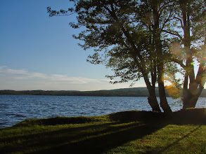 Photo: Sunset over the lake at Lake Carmi State Park by Sara Hayes