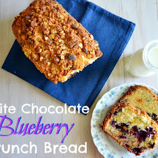 White Chocolate Blueberry Crunch Bread Recipe