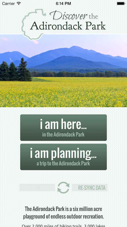 Discover the Adirondack Park- screenshot
