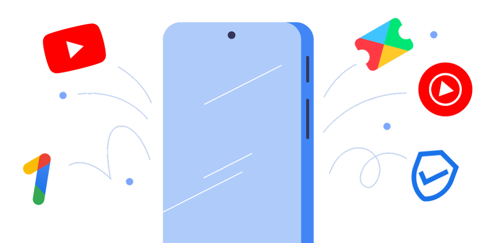 Image of phone with features bursting out of it.