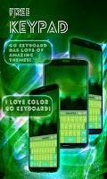 Screenshot of Free Keypad Green