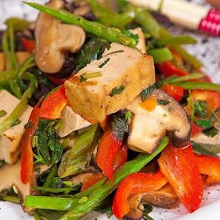 Tofu, Miso and Coriander Stir-Fry Recipe