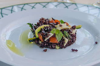 Photo: A closer look at the black rice salad