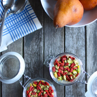 Ginger Citrus Chia Cups with Pistachios and Goji Berries