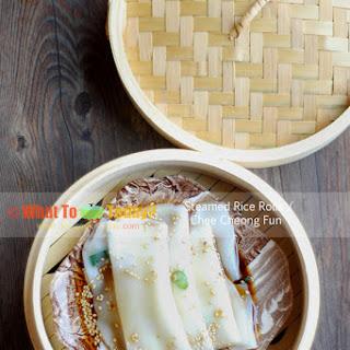 CHEE CHEONG FUN / STEAMED RICE ROLLS (8-10 rolls).