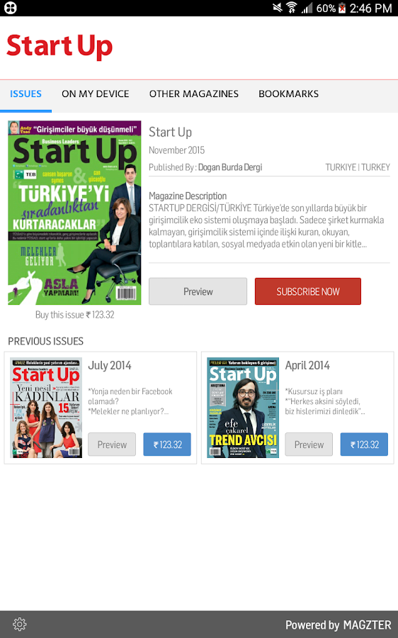 Start Up Dergisi- screenshot
