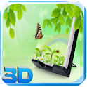3D butterfly wallpaper icon