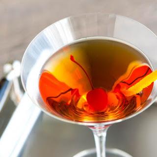 Classic Bourbon Manhattan Cocktail.