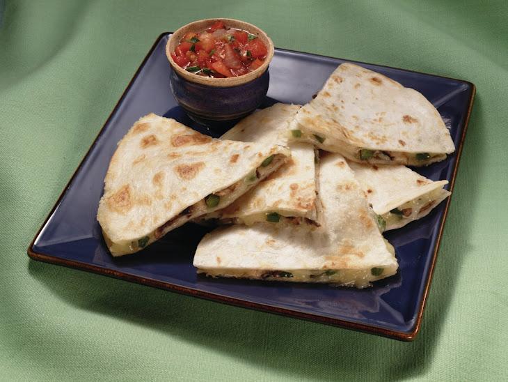 Mushroom & Jack Cheese Quesadillas Recipe