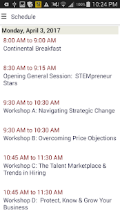 Enterprising Women Conference Assistant- screenshot thumbnail