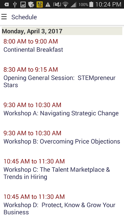 Enterprising Women Conference Assistant- screenshot