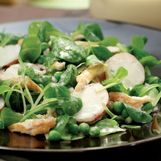 Mache & Chicken Salad with Honey-Tahini Dressing Recipe