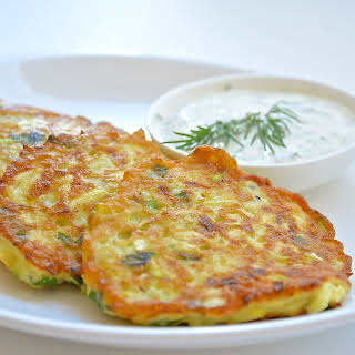 Marrow Pancakes With Cheese.