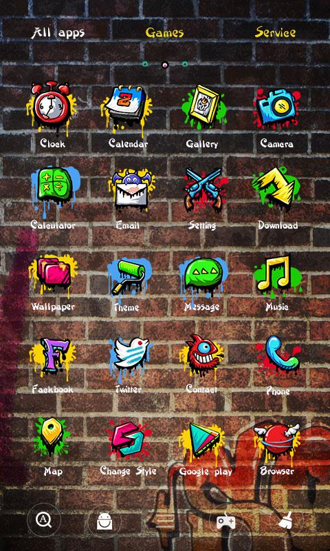 Graffiti GO Launcher Theme- screenshot