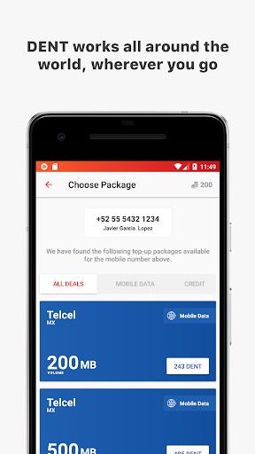 DENT - Send mobile data top-up 1.1.2 screenshots 4